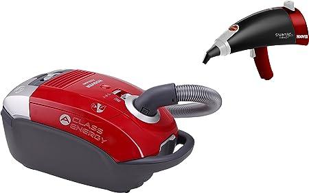 Hoover AT70 ATSG011 + SSNH1300 Pack Aspirador Clase Energética A + Pistola de Vapor con Autonomía Ilimitada, 5 litros, Rojo: Amazon.es: Hogar