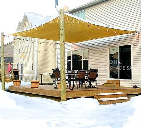 Sun Shade Sail Patio Outdoor Canopy Pool UV Block Cover Rectangle Shade Waterpro