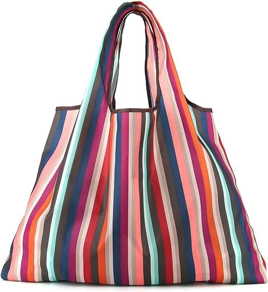 Lawei 6 St/ück Einkaufstaschen Wiederverwendbar Faltbar Einkaufst/üten Gro/ß Tragbar Einkaufstasche Strapazierf/ähig 40 x 50 cm