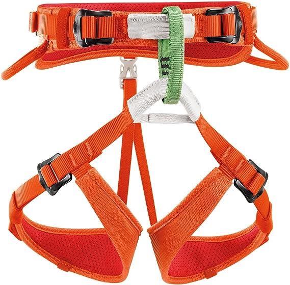 Petzl Macchu C15AC - Arnés de escalada para niños, Naranja , One ...