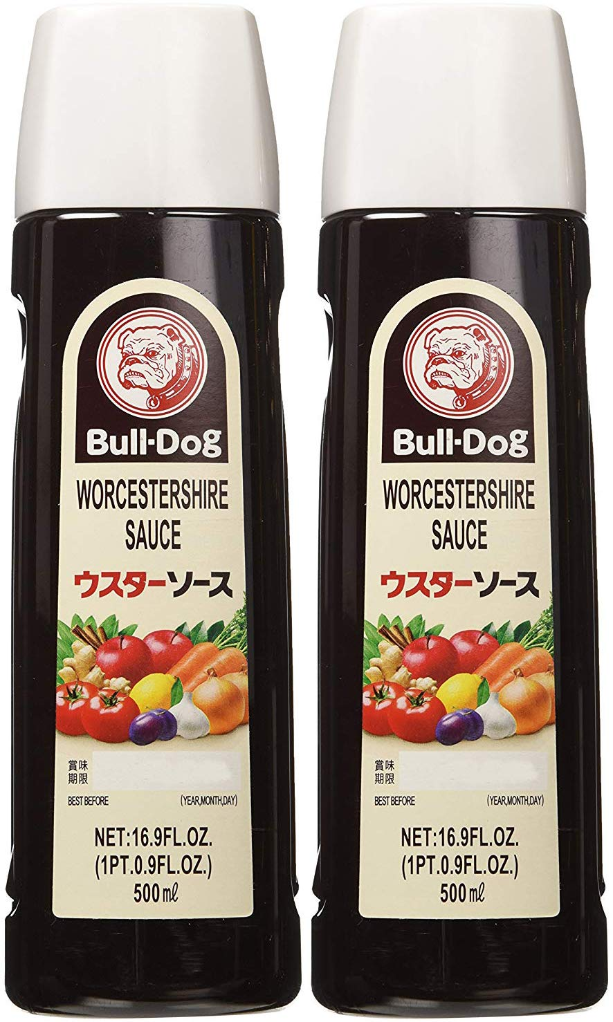 Bull-Dog Worcestershire Sauce 16.9 Fl. Oz. (2 Bottles) by Bull-Dog