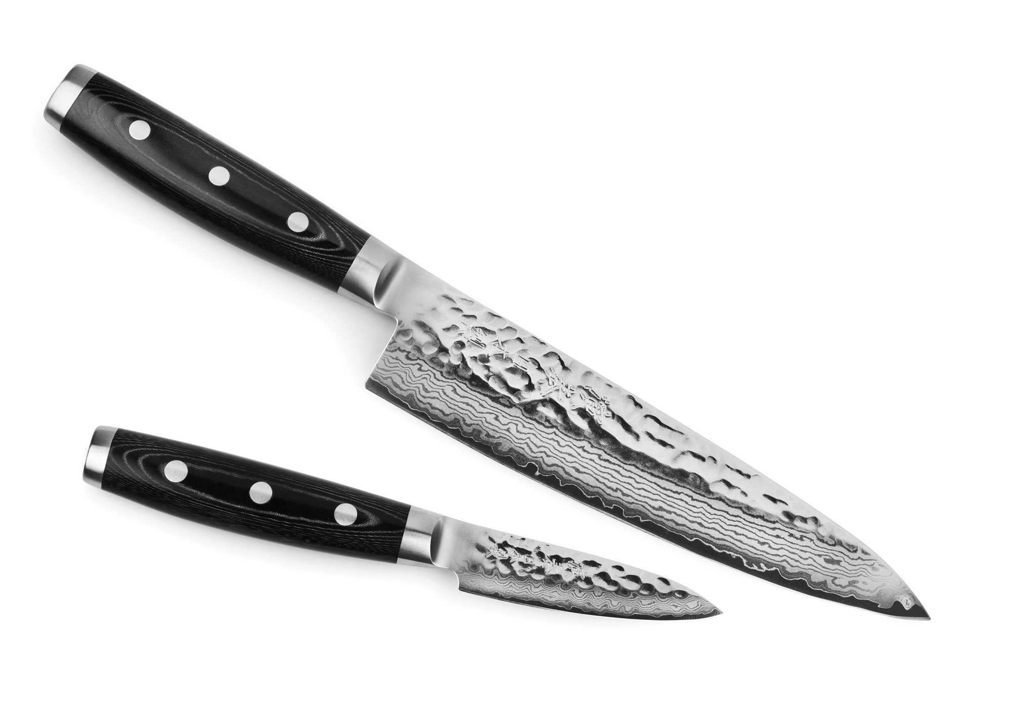Enso HD Hammered Damascus 2-piece Starter Knife Set