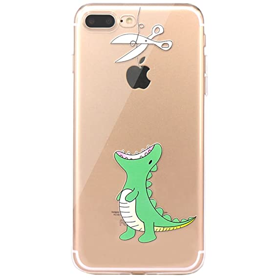 official photos e5e5b f88b7 JAHOLAN iPhone 7 Plus Case, iPhone 8 Plus Case Amusing Whimsical Design  Clear TPU Soft Case Rubber Silicone Skin Cover for iPhone 7 Plus iPhone 8  Plus ...