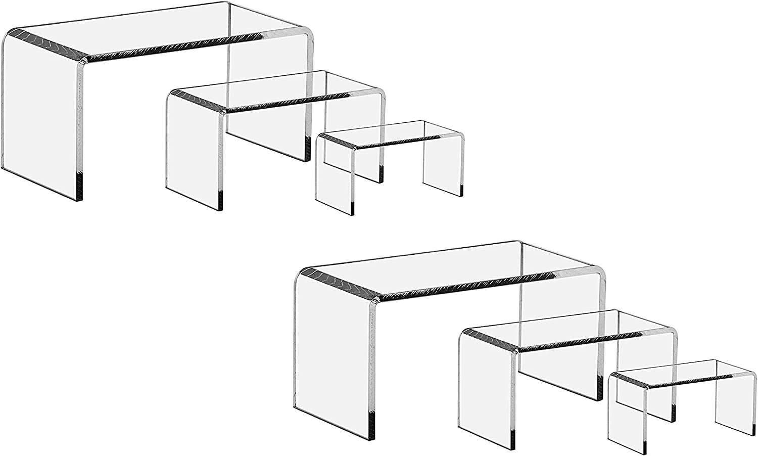 6 Pieces Set Acrylic Display Stand Ship Free Clear Acrylic Display Riser Set