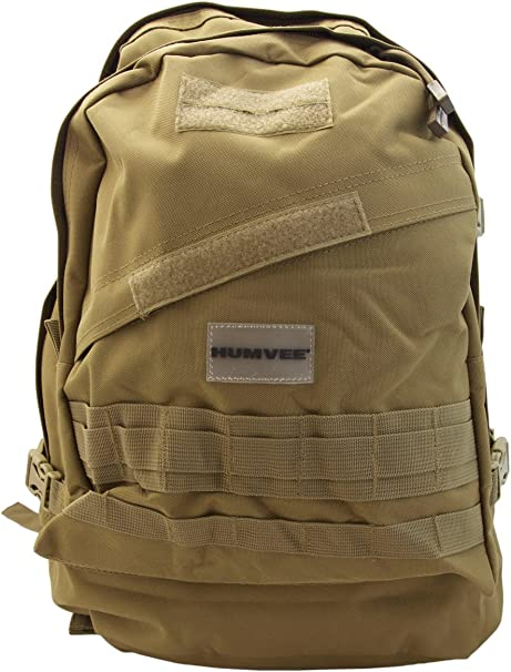 HUMVEE HMV-GB-02TAN Double Reinforced Day Pack with Compression ...