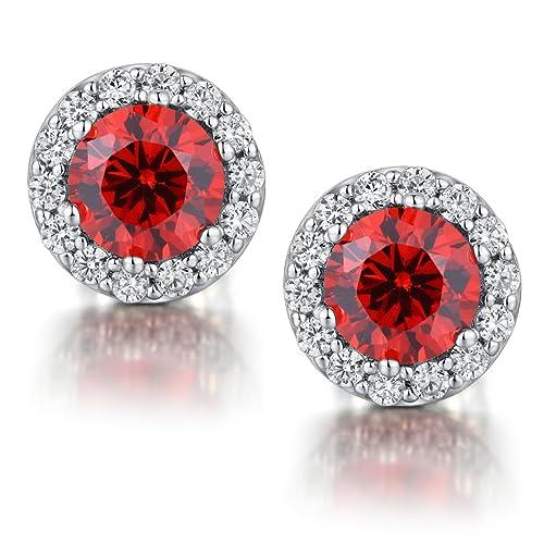 c3f2dd445cb40 ZowBinBin Stud Earrings,Sterling Silver Round Cut Cubic Zirconia Stud  Earrings,Fake Diamond Stud Earrings,Sparkle CZ Diamond Studs 18K White Gold  ...