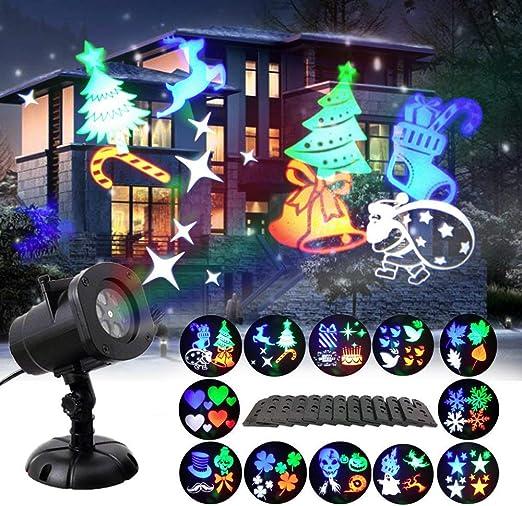 GAXmi Luces de Proyector de Navidad 12 Mover Patrones Cambiables ...