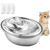 PUPPY KITTY Fontanna do picia ze stali nierdzewnej dla kotów i psów, 2 l, bardzo cichy, automatyczny dozownik wody…