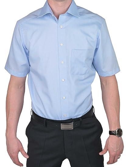 Marvelis - Chemise Business - Uni - Col Chemise Classique - Manches Courtes  - Homme  Amazon.fr  Vêtements et accessoires a3f43465946