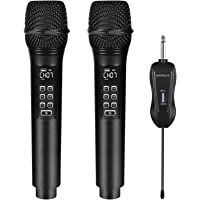 Kithouse K28 Rechargeable Wireless Microphone Karaoke Microphone Wireless Mic + Volume Control Echo with Receiver System…