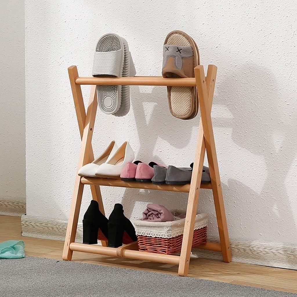SCDXJ Shoe Rack Japanese Shoe Rack Small Mini Simple Space Home Door Bedroom Student Storage Solid Wood Nordic Multi-Function Slippers Shelf