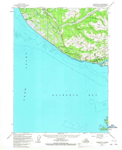 Amazon Com Seldovia C 5 Ak Topo Map 1 63360 Scale 15 X 15 Minute