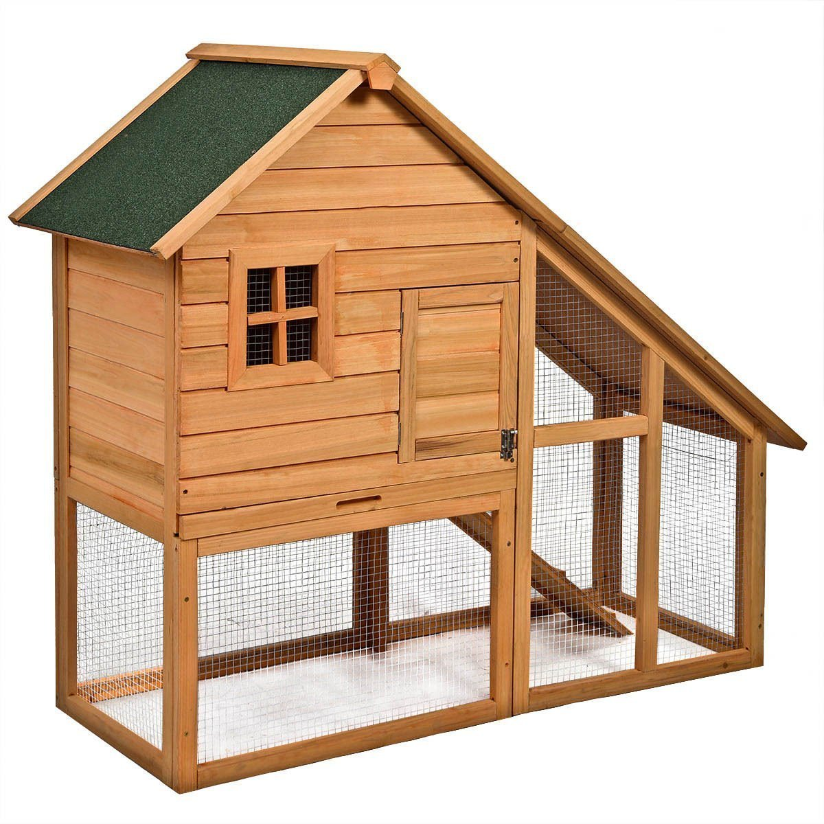 Tangkula Deluxe Wooden Chicken Coop 55'' Hen House Rabbit Wood Hutch Poultry Cage Habitat by Tangkula (Image #2)