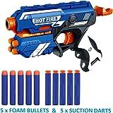 Webby Kids' Foam Blaster Plastic Gun Toy with 10 Bullets (Multi-Color)