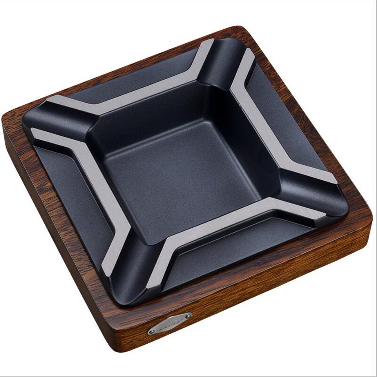 QMPZG Posacenere per sigari. Posacenere per sigari metallo grande legno massello, A