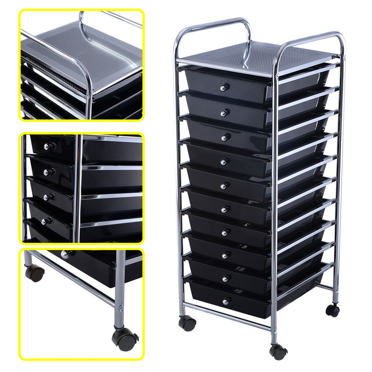 Amazon.com: 10 Drawer Rolling Storage Cart Scrapbook Paper Office ...