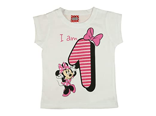 Minnie Mouse T Shirt Design | Madchen Baby Kinder Vierter Geburtstag Kurzarm T Shirt 1 Jahr