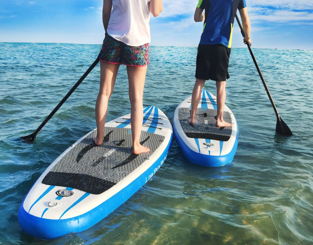 WOWSEA Tabla Hinchable Paddle Surf, Paddle Board Hinchable con tamaño de 335 x 81 x 15cm, Carga de 145-150kg: Amazon.es: Deportes y aire libre