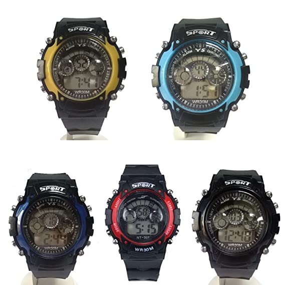Buy Glitter Collection Sports Digital Watch Combo Pack Of 5 For Birthday Return Gift Sports05 Online At Low Prices In India