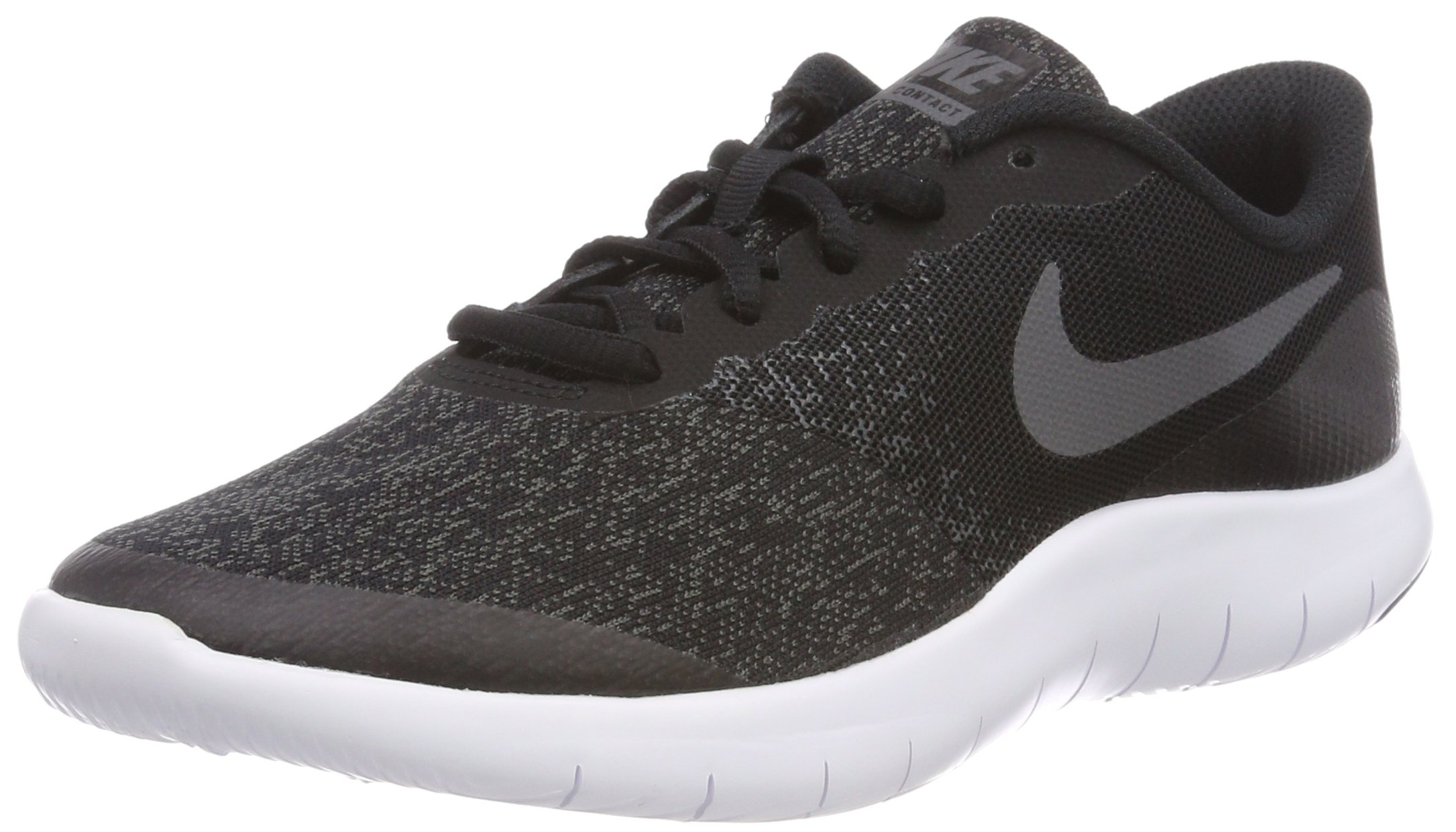 Nike Kids Flex Contact (GS) Running Shoes (4.5 Big Kid M, Black Drk Gry Anthracite White) by Nike