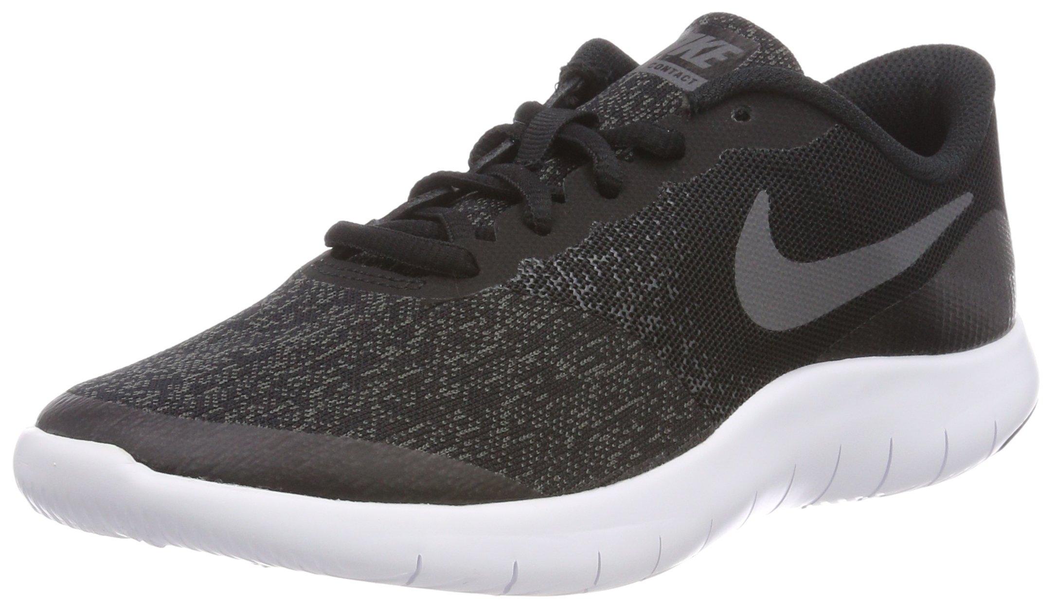 Nike Kids Flex Contact (GS) Black/Dark Grey/Anthracite Running Shoe 5 Kids US by Nike