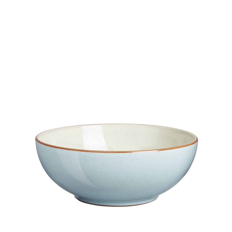 Denby 17 cm Heritage Pavilion Soup and Cereal Bowl, Blue PAV-005