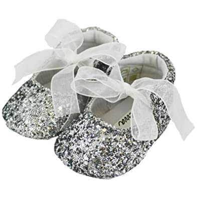 f6005e065c8f2 Baby Girls Pram Shoes/Booties - Sparkle Party Glitter Pre-Walkers