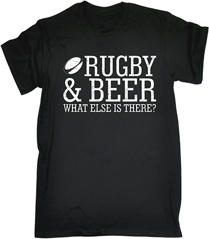 Rugby T-Shirt Funny Novelty Mens tee TShirt Pulse Rugby