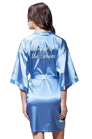 bf63fb689e3e Satin Kimono Rhinestone Mother of The Groom Robe at Amazon Women s ...