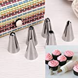Kurtzy Stainless Steel Icing Nozzles - Set of 6
