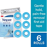 Nexcare Sensititive Skin Tape SIOC, From the #1 Leader in U.S. Hospital Tapes, Pain Free Removal, 1-inch X 4 Yard Roll (Pack of 6)