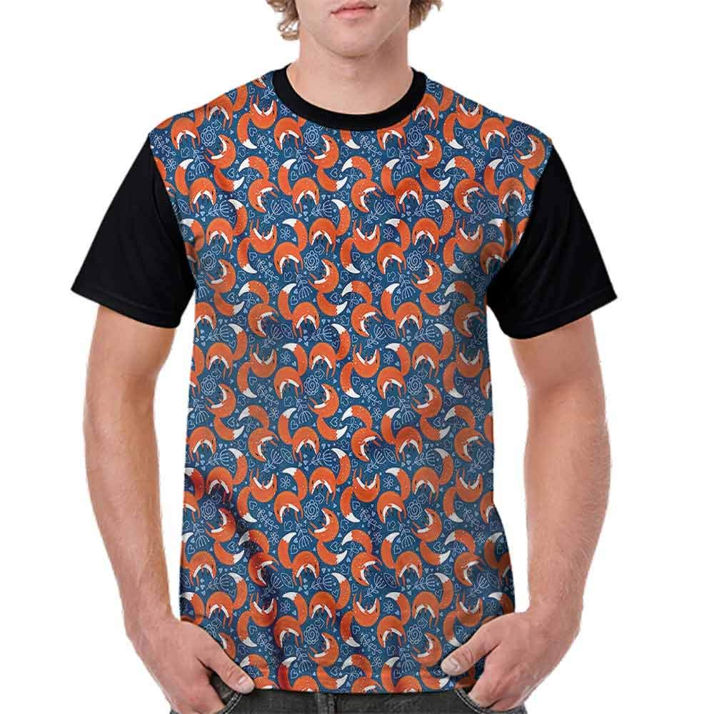 Casual Short Sleeve Graphic Tee Shirts,Doodle Animal and Hearts Fashion Personality Customization