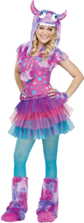 Amazon.com Fun World Costumes Womenu0027s Polka Dot Monster Teen Costume Pink/Blue One Size Clothing  sc 1 st  Amazon.com & Amazon.com: Fun World Costumes Womenu0027s Polka Dot Monster Teen ...