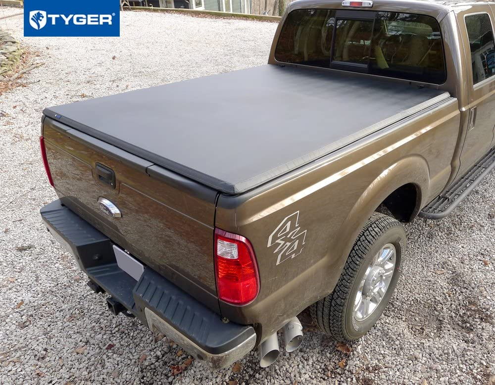 Amazon Com Tyger Auto T3 Soft Tri Fold Truck Bed Tonneau Cover Compatible With 2017 2021 Ford F 250 F 350 Super Duty Styleside 6 75 Bed Tg Bc3f1124 Automotive
