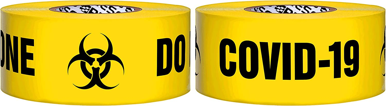Presco Premium Cinta de barricada impresa: 3 in x 1000 ft. (Amarillo con negro