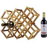 【ノーブランド】木製ワインラック ワインボトルラック ワイン棚 10本用
