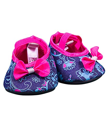 3c25d39352e8 Image Unavailable. Image not available for. Color  Hot Pink Denim Floral  High Heels ...