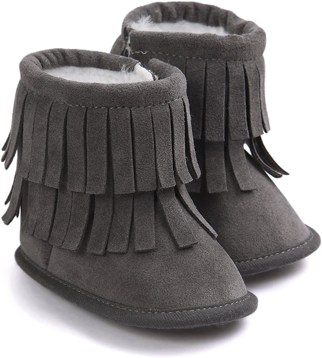 Vanbuy Baby Boys Girls Bear Paw Animal Winter Slippers Boots Infant Crib Shoes