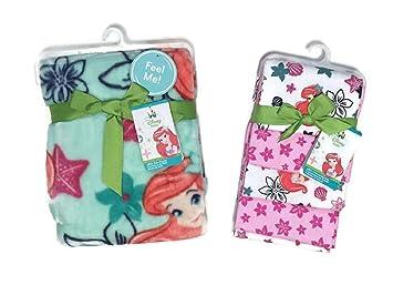 Amazon.com: Disney Baby Ariel Manta para bebé conjunto – una ...