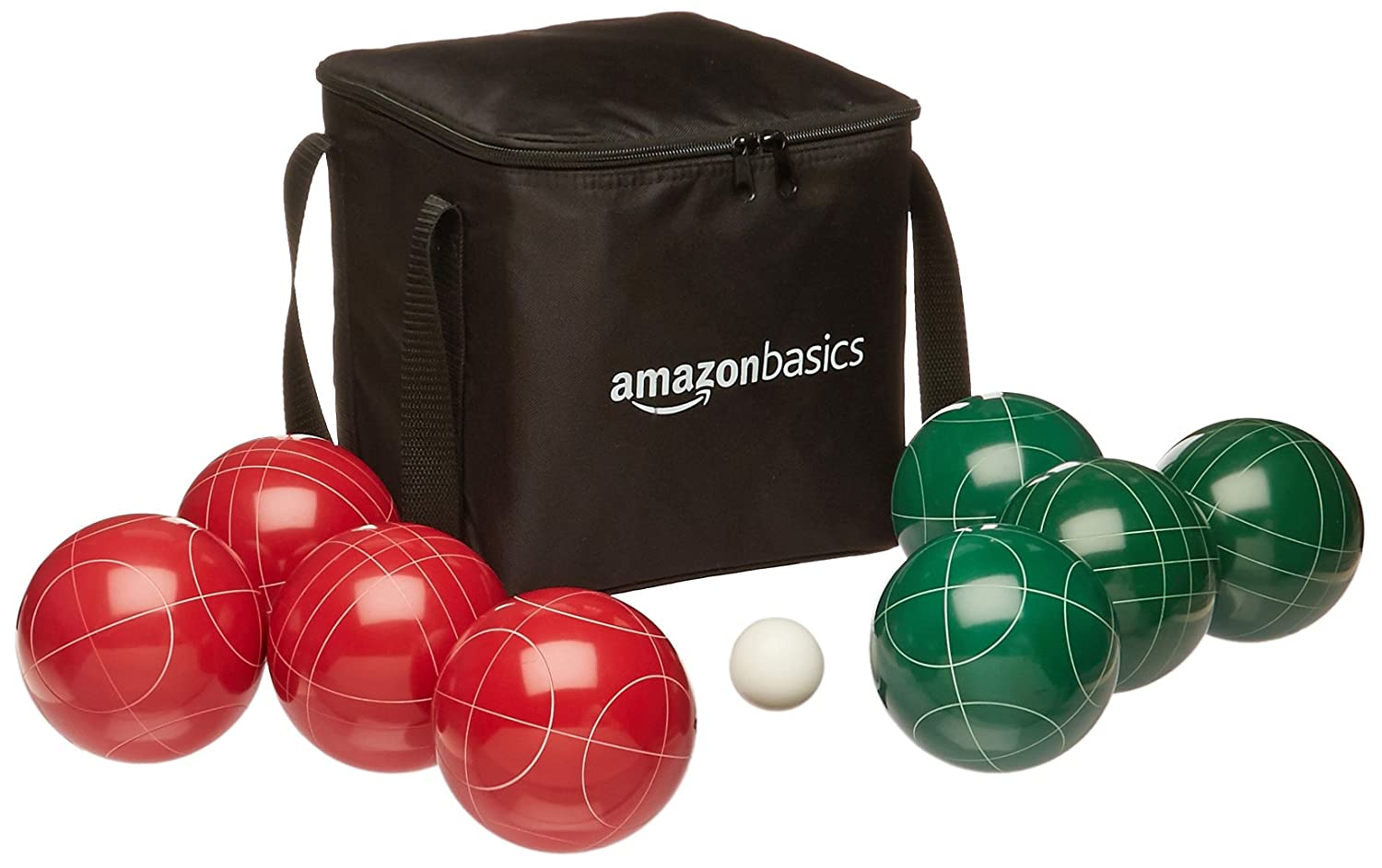AmazonBasics Bocce Ball Set with Soft Carry Case
