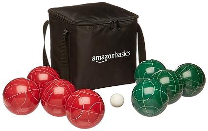 AmazonBasics - Juego de Petanca con Bolsa de Transporte Flexible
