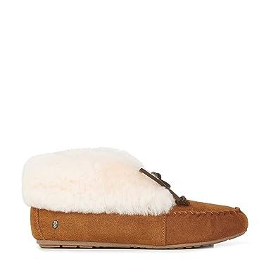 Amazon.com | EMU Australia Womens Moccasins Slippers Burra Sheepskin | Slippers
