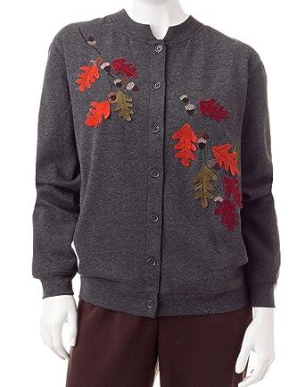Amazon.com: Rebecca Malone Petite Women's Autumn Fall Button-up ...