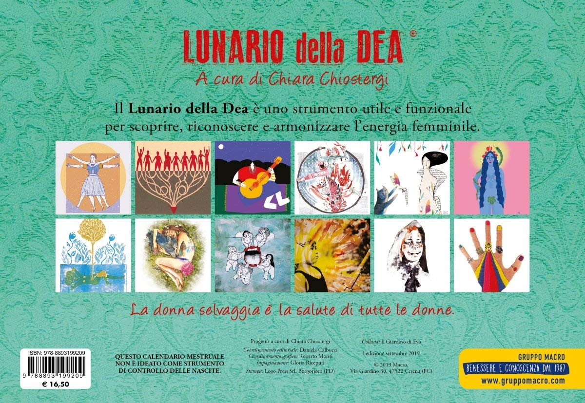 Calendario Della Salute.Lunario Della Dea Calendario Mestruale 2020 Amazon It C