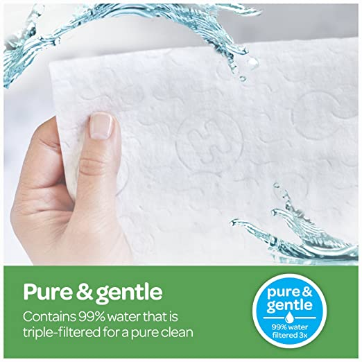 Huggies Natural Care Unscented Baby Wipes, Sensitive, 56 Count (Pack Of 8) by Huggies