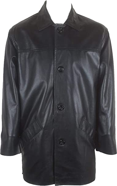 UNICORN Hombres Genuino real cuero chaqueta Estilo clásico ...
