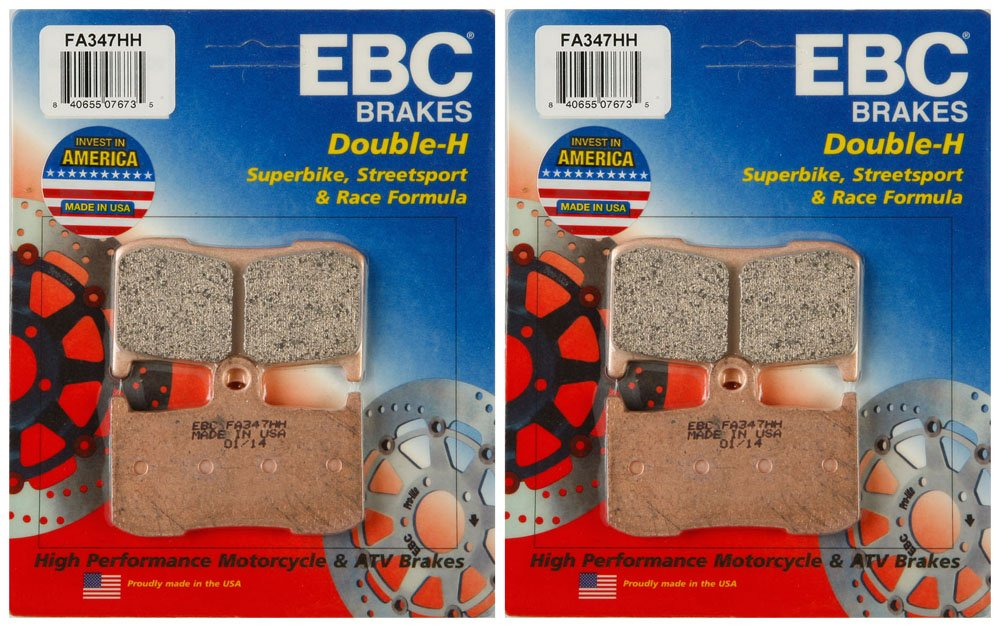 EBC Double-H Sintered Metal Brake Pads FA347HH (2 Packs - Enough for 2 Rotors) by EBC Brakes