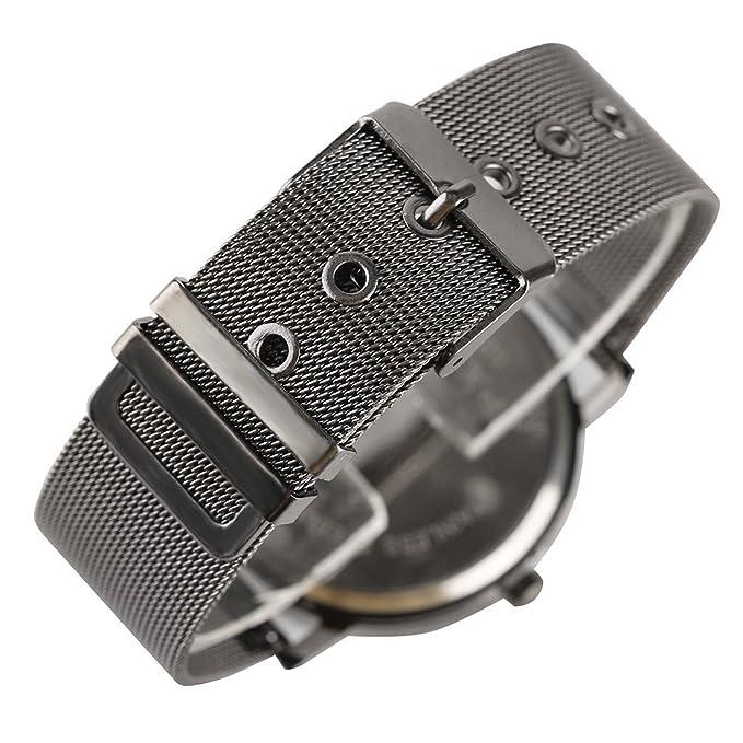 Amazon.com: Turntable Geek Watch for Men & Women, No Pointer Gradient Color Dial, Vortex Design, Cool Unisex Spiral Wristwatch (Purple&Blue): Watches