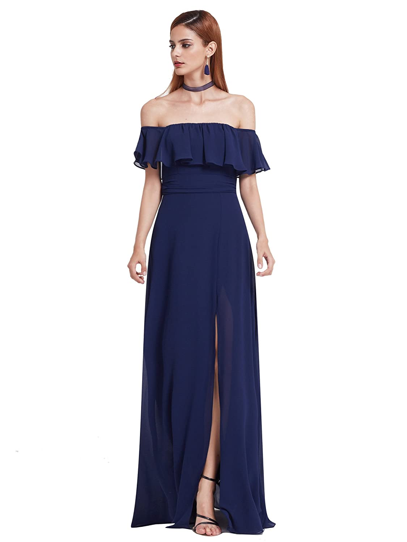 6c41f6f945 Ever-Pretty Womens Elegant Sleeveless Floor Length Ruffles Chiffon  Bridesmaids Dress 07201 at Amazon Women's Clothing store: