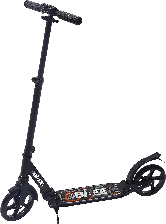 Bibee Pump – Patinete jóvenes Adulto Grande Rueda Plegable con función Atril y suspensión: Amazon.es: Juguetes y juegos